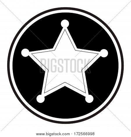 sherif medal emblem icon vector illustration design