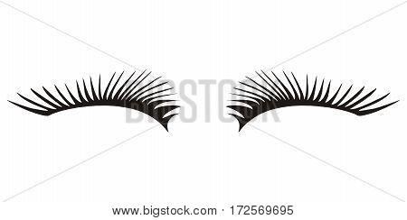 black eyelashes icon on a white background