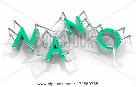Nano Micro Technology Biology Spider Bots 3d Illustration