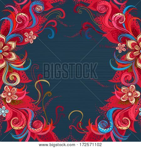 Vector Floral Seamless Pattern In Eastern Style.