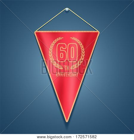60 years anniversary vector icon, logo. Graphic design element for decoration for 60th anniversary card