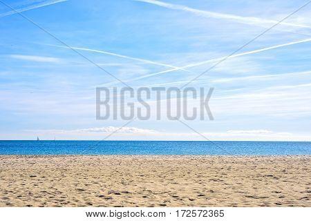 Amazing sea view Barcelona Beach Platja Nova Icaria or Barceloneta Catalunya
