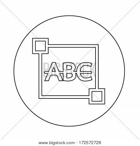 an images of Or pictogram Strikethrough Text edit letter icon