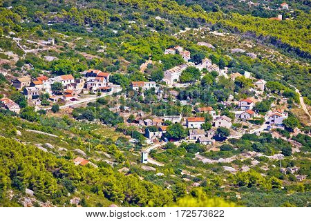 Mediterranean Village On Island Of Vis