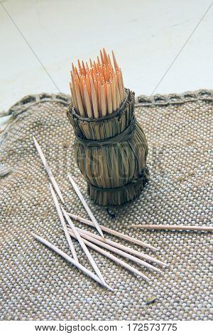 Toothpicks. Floss For Hygiene