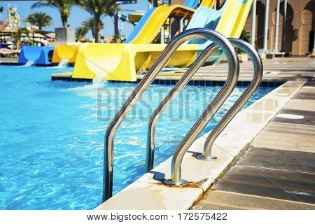 Aquapark with water flights and pools in Hurghada
