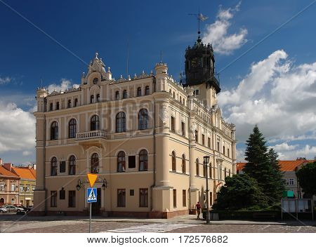 Town Hall And Market Square In Jaroslaw. Poland