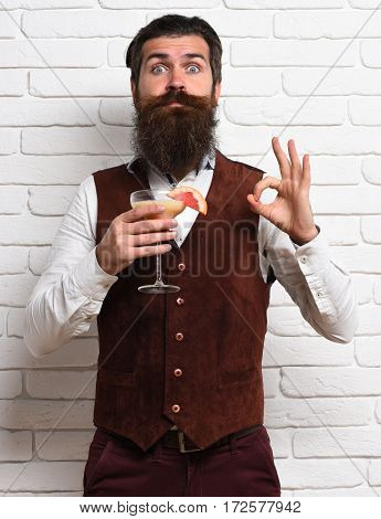 Surprised Handsome Bearded Man