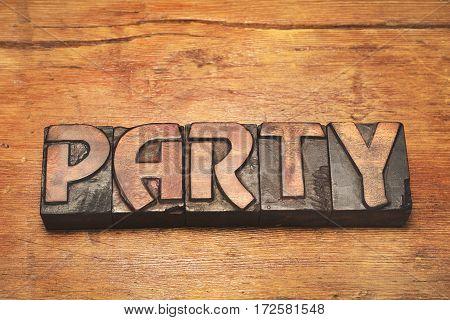 Party Wood Vintage