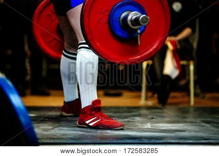 male athlete powerlifter deadlift barbell competition powerlifting