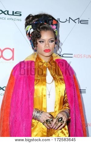 LOS ANGELES - FEB 19:  Andra Day at the 2017 Hollywood Beauty Awards at the Avalon Hollywood on February 19, 2017 in Los Angeles, CA