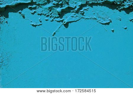 blue grunge cement background, colored stone surface