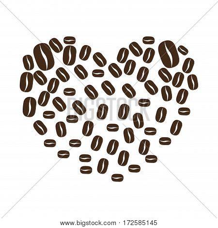 coffee plant organic product vector illustration design