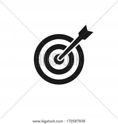 Target icon vector isolated simple black illustration.
