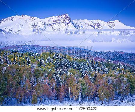 A collision of seasons in the San Juan mountains of Colorado.