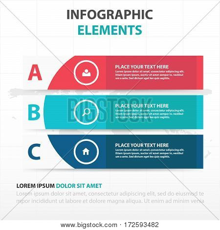 Abstract colorful curve banner business Infographics elements presentation template flat design vector illustration for web design marketing advertising
