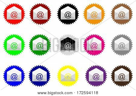 E-mail icon , Vector e-mail internet icon button