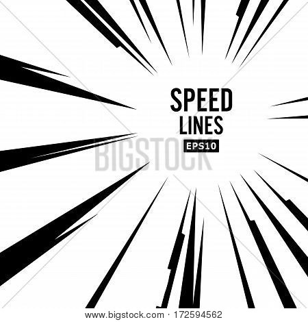 Comic Speed Lines Vector. Explosion Vector Illustration.