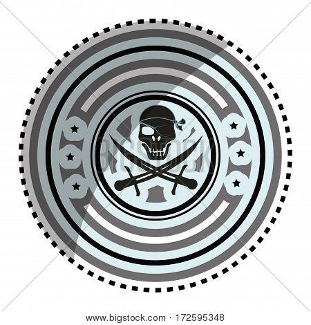 pirate skull symbol icon vector illustration design
