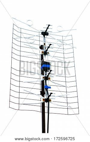 TV antenna isolated on a white background