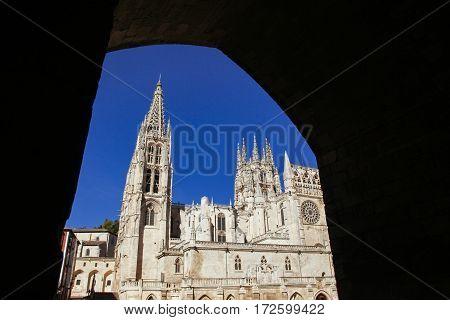 Landmark Catholic Cathedral of Burgos in Spain
