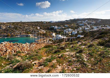 Village on Iraklia island in Lesser Cyclades, Greece.