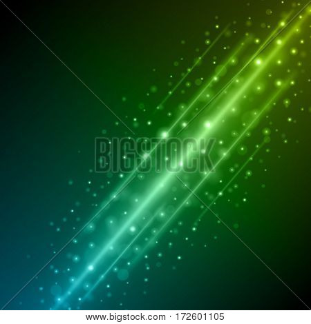 Abstract Light Blue Green Bokeh Background Vector Illustration.