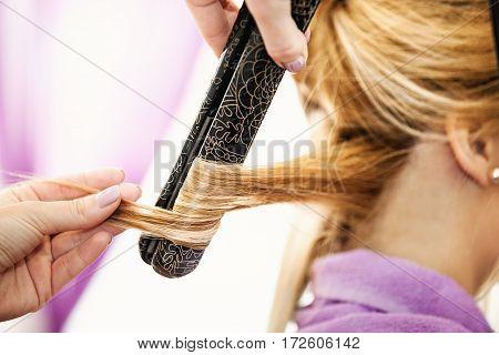 At The Hairdresser Salon