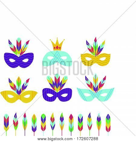 Vector Carnival Masks