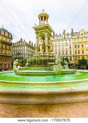 The Fountain at Jacobin's place in Lyon, France