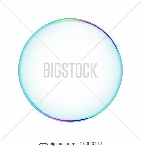 Bubble transparent isolated soapbubble in white background. Object