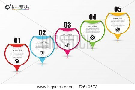 Timeline Infographic with pointers. Business concept. Vector illustration