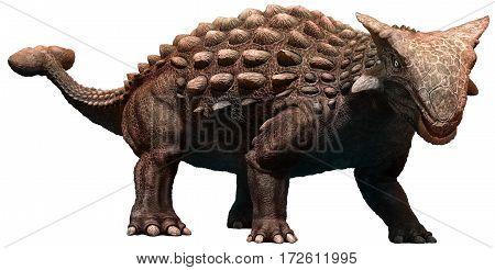 Ankylosaurus dinosaur from the Cretaceous era 3D illustration