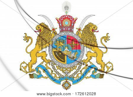 3D Imperial Coat Of Arms Of Iran.