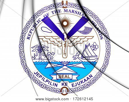 Seal Of The Marshall Islands. 3D Illustration.