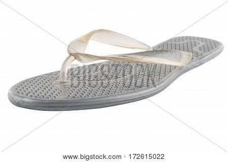Gray Rubber flip-flops isolated on white background