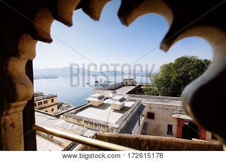 View On The Pichola Lake And Palas, Udajpur, India