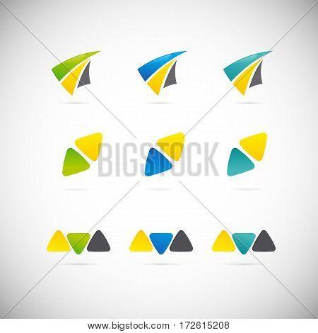 Abstract letter A logo design template. Arrow creative sign. Vector icon.