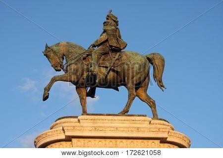 Vittorio Emanuele The Piazza Venezia in Rome Italy