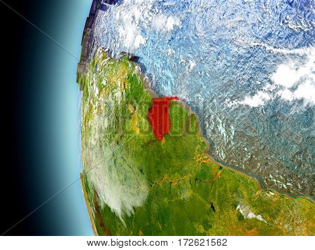 Suriname On Planet Earth From Space
