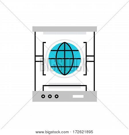 3D Scanner Monoflat Icon.