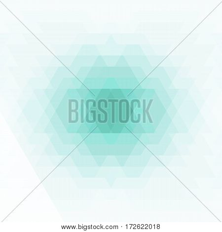 Abstract geometric background. Geometric shapes in green blue gray color. Futuristic geometric polygon pattern. Vector