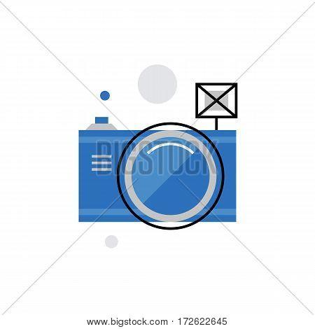 Digital Camera Monoflat Icon.