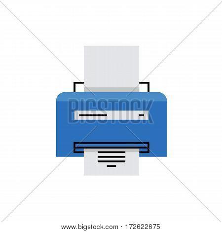 Laser Printer Monoflat Icon.