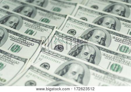 One hundred Dollars Money cash background america