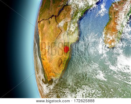 Swaziland On Planet Earth From Space