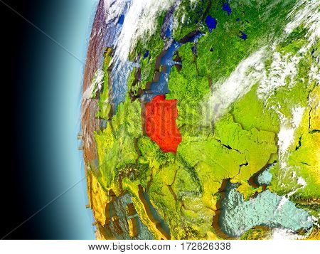 Poland On Planet Earth From Space