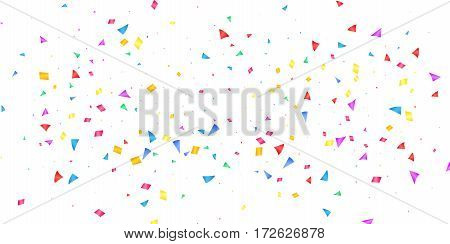 Confetti. Holiday shiny confetti isolated on white background. Colorful confetti.
