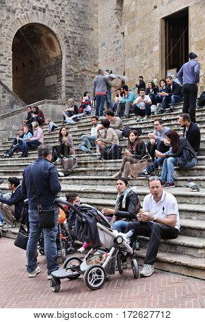 San Gimignano Tourists