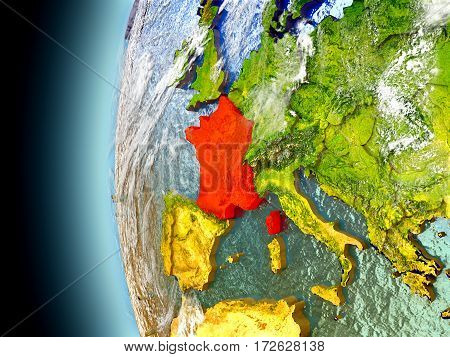 France On Planet Earth From Space